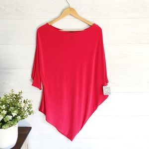 NWT Clara Sun Woo Red Coral Off Shoulder Top 576